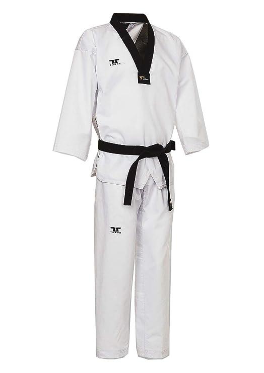 Tusah - Dobok Basic Uniform Cuello Negro para Taekwondo Reconocido ...