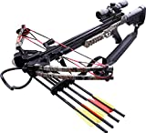 Cheap MTech USA MC-DX52GODC Crossbow Kit with Scope and 4 Arrows, Black and God Camo, 185-Pound Draw Weight