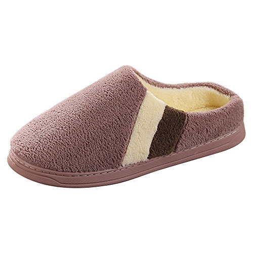 Eastlion Women's Slippers Winter Indoor Anti-Skid Women Keep Warm Slipper Shoes Fleece Slippers House Slippers Home Shoes Brown o3tmkE