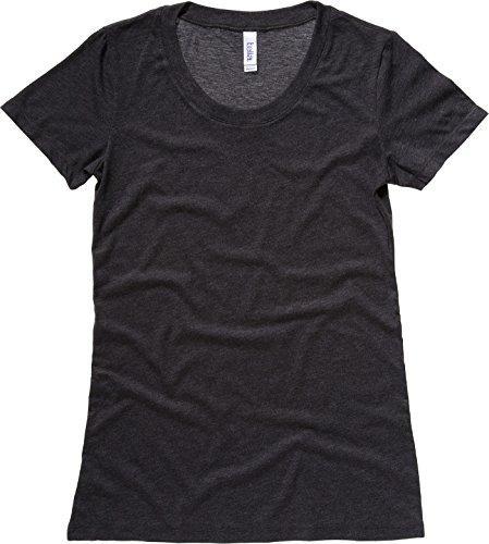 Bella Leinwand Triblend Crew Neck T-Shirt Charcoal Triblend S