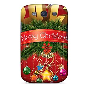 Galaxy S3 Case, Premium Protective Case With Awesome Look - 2012 Merry Christmas