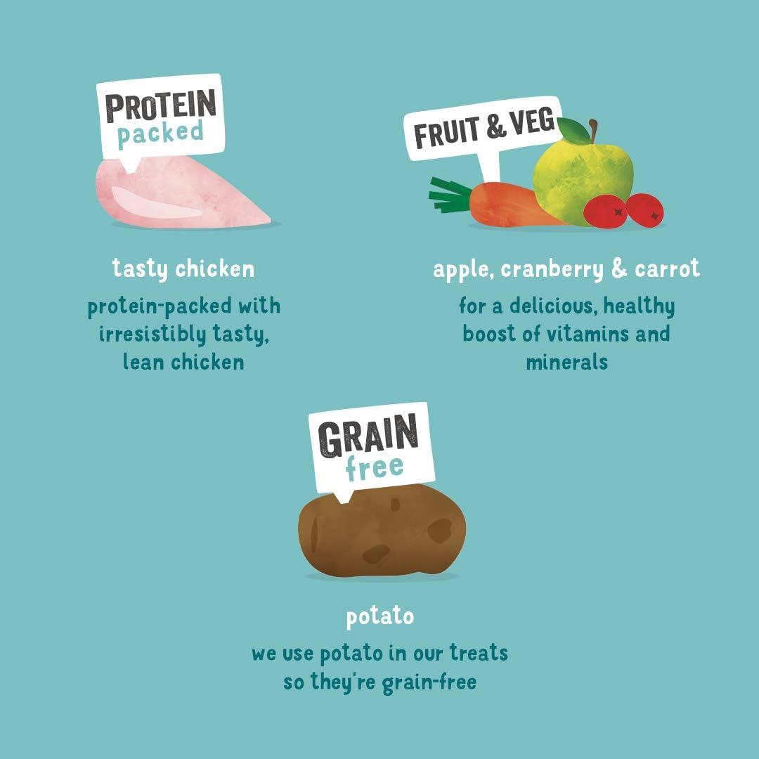 Edgard & Cooper premios para Perros sin Cereales, Natural con Pollo. Snacks Ricos en proteínas hasta 85% de Carne cocinados al Horno con Ingredientes ...
