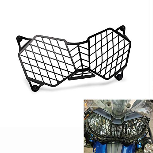 (Carrfan Motorcycle Headlight Headlamp Guard Protective Grill Cover for Triumph Tiger 800 2010-2017 Explorer 1200 2012-2017)