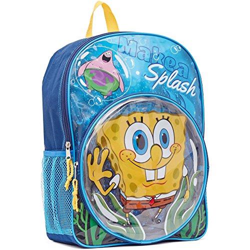 Spongebob Squarepants Fun Pocket - Spongebob Backpack - SpongeBob & Patrick Make A Splash 16 Kid's Backpack