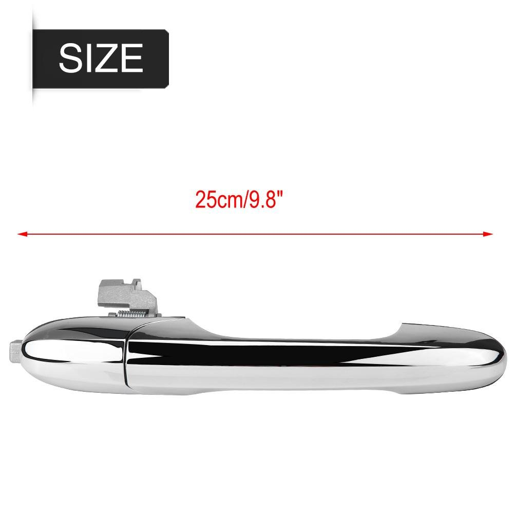 Acouto Left-Hand Drive Side Replacement Exterior Outer Door Handle for Fiat 500 2012-2018 Left Driver Side
