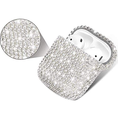 Awenroy Airpods Case Cover Compatible with Apple AirPods 1&2 Bling Crystal Diamond Glitter Sparkle Shiny Airpods…
