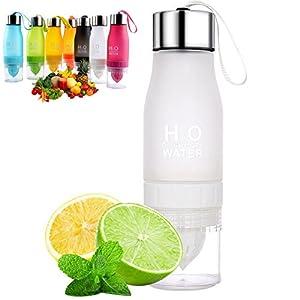 ONUEMP Lemon Bottle Citrus Juice Water Bottles - Fruit Infuser Bottle for Lemon Water, Easy to Use and Create Your Own Fruits Infused Water/Iced Tea/Lemonade