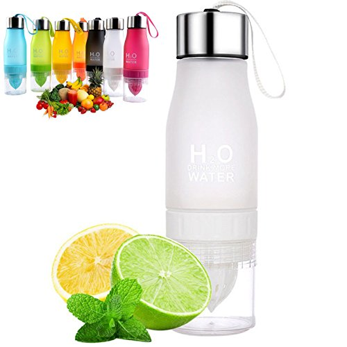 ONUEMP Lemon Bottle Citrus Juice Water Bottles - Fruit Infuser Bottle for Lemon Water, Easy to Use and Create Your Own Fruits Infused Water/Iced Tea/Lemonade