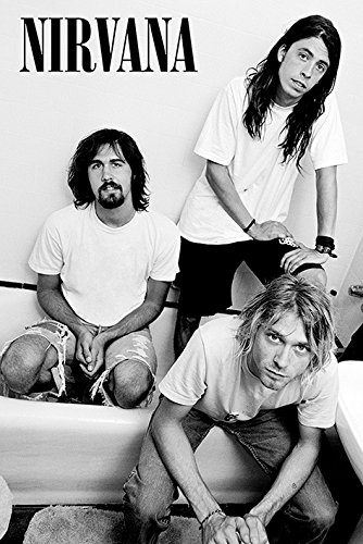 Nirvana - Music Poster/Print (B&W - Kurt, Krist & Dave) (Size: 24 inches x 36 inches)