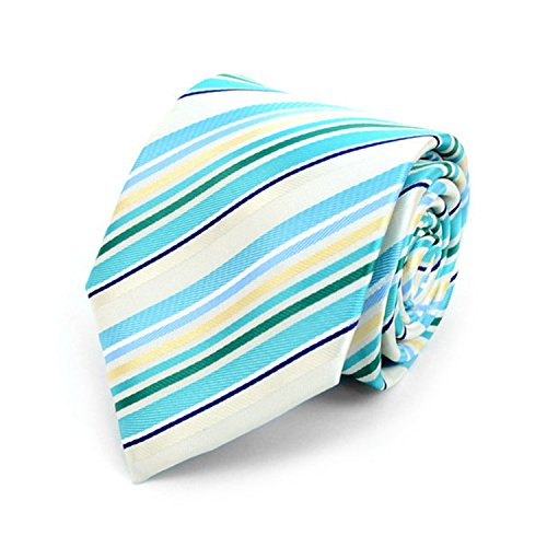Woven Poly Mens Tie (Men's Striped Patterned Mircofiber Poly Woven Tie)