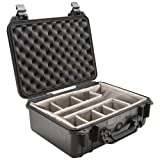 PELICAN 1450-004-110 CASE WITH PADDED DIVIDER (MODEL 1450; DIM: 14.62''L X 10.18''W X 6''H)-PLO1450CASE