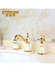 Furesnts Modern Home Kitchen And Bathroom Sink Taps European Retro All Copper Hot And Cold Kitchen Sink Basin Faucet Taps Standard G 1 2 Universal Hose Ports
