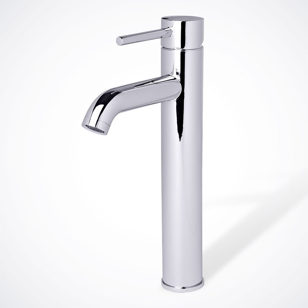 Euro Modern Contemporary Bathroom Lavatory Vanity Vessel Sink Faucet, Chrome