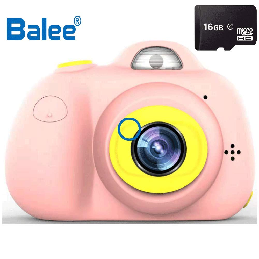 Balee Kids Digital Camera 2 inch Screen Digital Video Camera Creative DIY Selfie Camera for Kids with 16GB Memory SD Card (Pink) by Balee (Image #1)