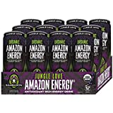 Sambazon Amazon Energy Drink, Jungle Love Acai Berry Passionfruit, 12 Ounce (Pack of 12)