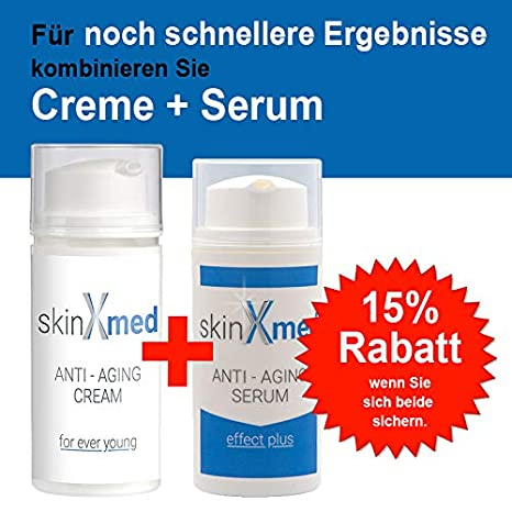 SKINXMED Serum Anti-Edad | efecto Lifting elimina arrugas y consigue una piel firme| Gel para el rostro, frente, cuello y escote | Ácido hialurónico, ...