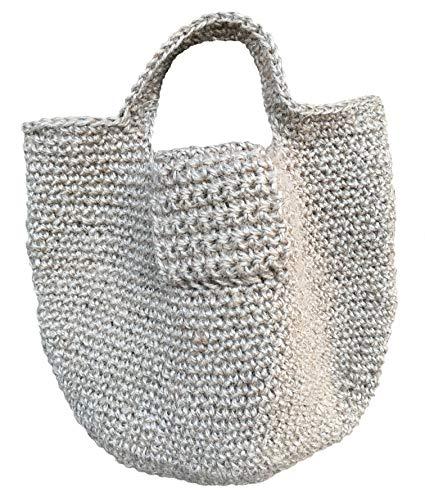 100% Hemp Bag Handmade Bag Hemp Backpack Linen Knit Bag