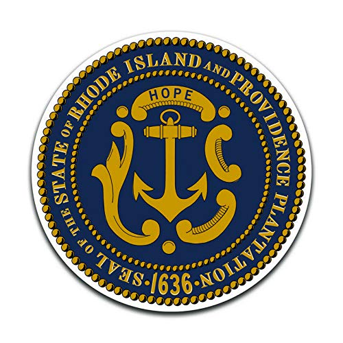 More Shiz Rhode Island State Seal (2 Pack) Vinyl Decal Sticker - Car Truck Van SUV Window Wall Cup Laptop - Two 5 Inch Decals - ()