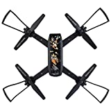 DM107S 2MP Wide-angle 110° 2.4G 6Axis HD Camera WIF Quadcopter Foldable Drone Dreamyth (black)