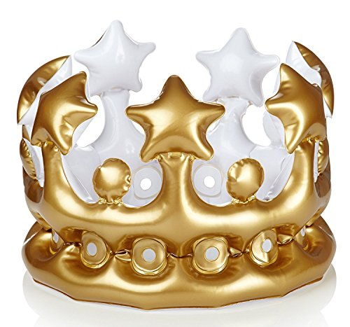 Crowns For Kings And Queens (NPW-USA King for The Day Inflatable Crown, Gold)