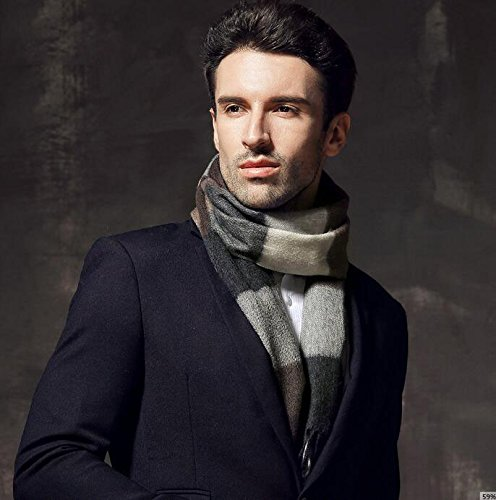 Men's thickening wool scarf, cashmere scarf in winter