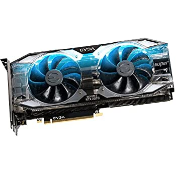 EVGA GeForce RTX 2070 SUPER XC ULTRA GAMING, 8GB GDDR6, Dual HDB Fans, RGB LED, Metal Backplate, 08G-P4-3173-KR