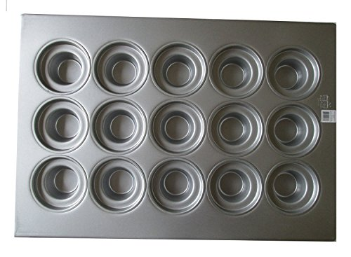 - Focus Foodservice 905435 Large Crown Muffin Pan - (15) 7-5/16 oz. Cup Capacity