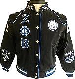 Cultural Exchange Zeta Phi Beta Dove Sorority Ladies NASCAR Twill Jacket [Black - L]
