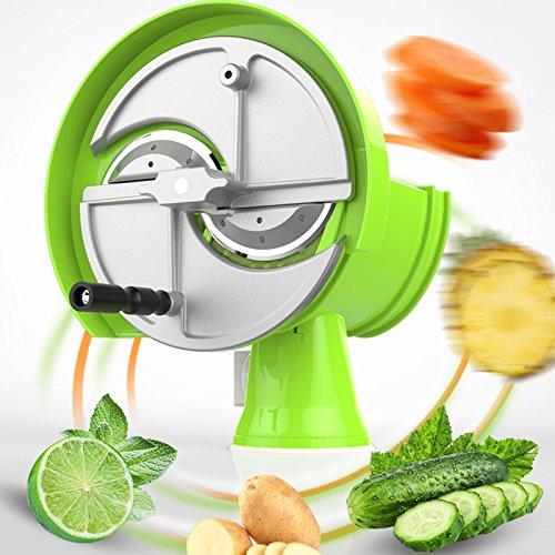 ELEOPTION Vegetable Slicer Cutter Fruit Spiralizer Potato Slicer Handheld For Potato Slicer Potato Tomato Onion Lemon Kitchen Cutting Helper Tool by Eleoption (Image #1)