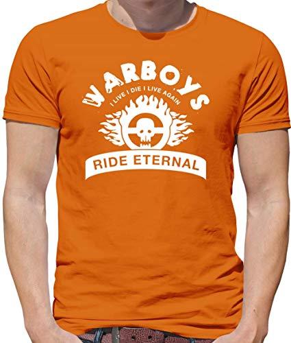 Dressdown War Boys - Mens Crewneck T-Shirt - Orange - 3XL