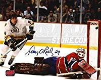 Terry O'Reilly Boston Bruins Signed Autograph Goal vs Canadiens Ken Dryden 8x10