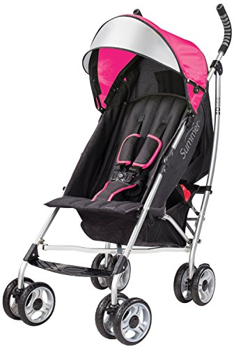 Summer Infant 3D Lite Convenience Stroller with 20 Ounce Flavor Infusing Water Bottle, Pink by Summer Infant