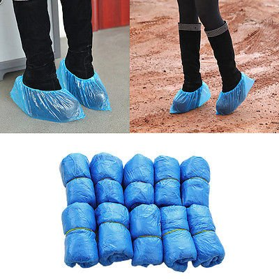 Disposable Shoe & Working Boot Covers (100 per Pack, 50 pairs) Universal Size, Polypropylene, Healthcare and Medical offices, Indoor Carpet Floor Protection, by P&P (5000 per case) by P&P Medical Surgical (Image #2)