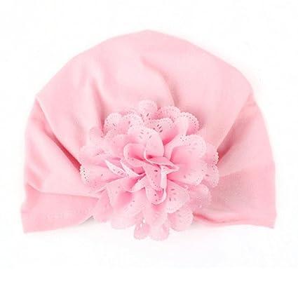 Zhuotop - Gorro elástico de tipo turbante para bebés y niños pequeños 129ea6f0da3