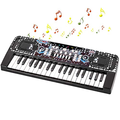 Shayson Kids Piano, 37 Keys Piano Keyboard for Kids Portable Piano Multifunction Electronic Keyboard Music Instrument for Kids Birthday Xmas Gifts Toys for 3 to 8 Year Old Boys Girls