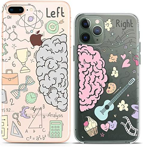 Cavka TPU Couple Cases for Apple iPhone 11 Pro Xs Max X Xr 8 Plus 7 6s SE 5s Matching Best Friends Forever Cinema Popcorn Silicone Cover Movie Bff Clear Bro Cute Print Mate Anniversary Flexible Gift