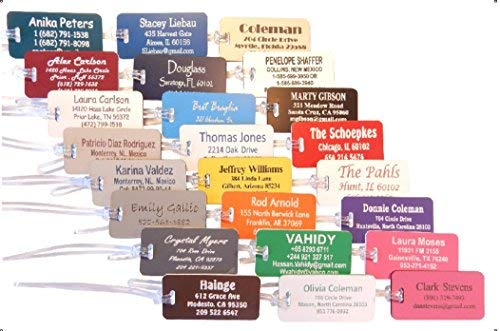 Custom Luggage Tags (10) by Custom Made To Order