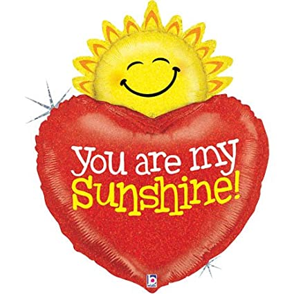 Amazoncom 37 Holographic You Are My Sunshine Balloon Toys Games