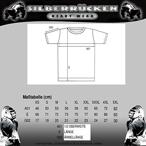 Silberrücken SR162 Gorilla Power 3 Herren T-Shirt Farbe Schwarz, Größe 4XL