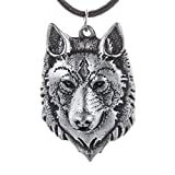Amazon Price History for:Mens Wolf Head Necklace Pendant for Men Norse Viking Warrior Arrow Headed Amulet Jewelry