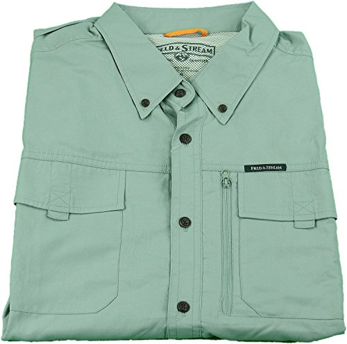 field-stream-mens-adventure-travel-short-sleeve-shirt-size-medium-mineral-green