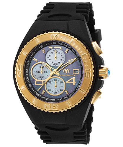 technomarine-tm-115352-mens-cruise-jellyfish-chrono-black-silicone-mop-dial-watch