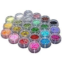 TOPBeauty 24 Loose GLITTER Eyeshadow Eye shadow Face Body Painting Paint Craft Nail Art
