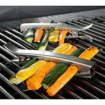 Charcoal Companion Stainless Grill Clips - Set 4