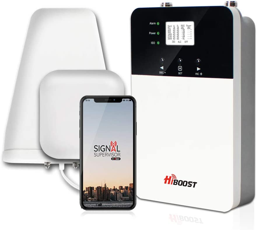 HiBoost Cell Phone Signal Booster for Home and Office, Compatible All US Carriers- Verizon, AT&T, Sprint, T-Mobile on All Cellular Devices (4K Plus PRO)
