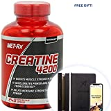 MET-Rx Creatine 4200 Supplement, Supports Muscles Pre and Post Workout, 240 Capsules + Free Gift - Productivity Planner - Attain Your Dreams! (400 Count)
