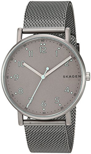 Skagen  Men's  SKW6354 Signatur Titanium and Steel-Mesh Watch