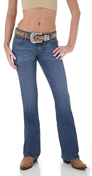 c26617ba Image Unavailable. Image not available for. Color: Wrangler Women's Jeans  Traditional Denim Mae Premium Patch ...