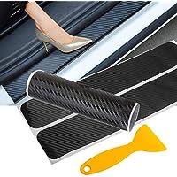 Car Door Sill Protector, Big Autoparts 4PCS 3D Carbon...