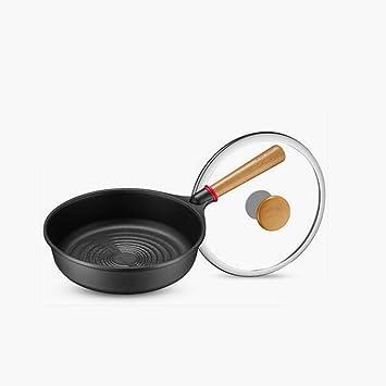 Filete de Cocina para el hogar Sartenes Sartén Antiadherente Pan de Fondo Plano 26cm: Amazon.es: Hogar